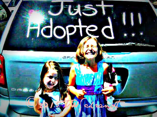 I got a set of new adorbable nieces through Adoption