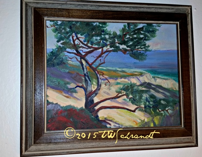 Another Treva Maynard McCune painting. Torrey Pines, San Diego.
