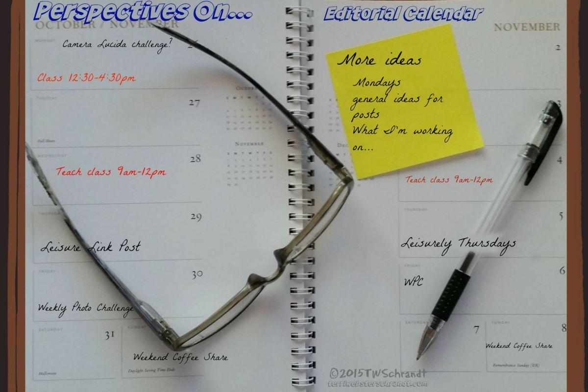 Editorial-Calendar Perspectives On Blog