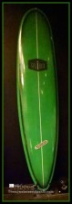 Green Surfboard on display at San Diego's Palomar Hotel