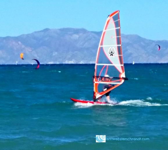 Windsurfing in La Ventana, Baja