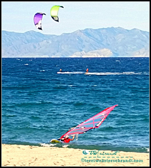 Wind is necessary for wind sports such as kite-boarding and windsurfing