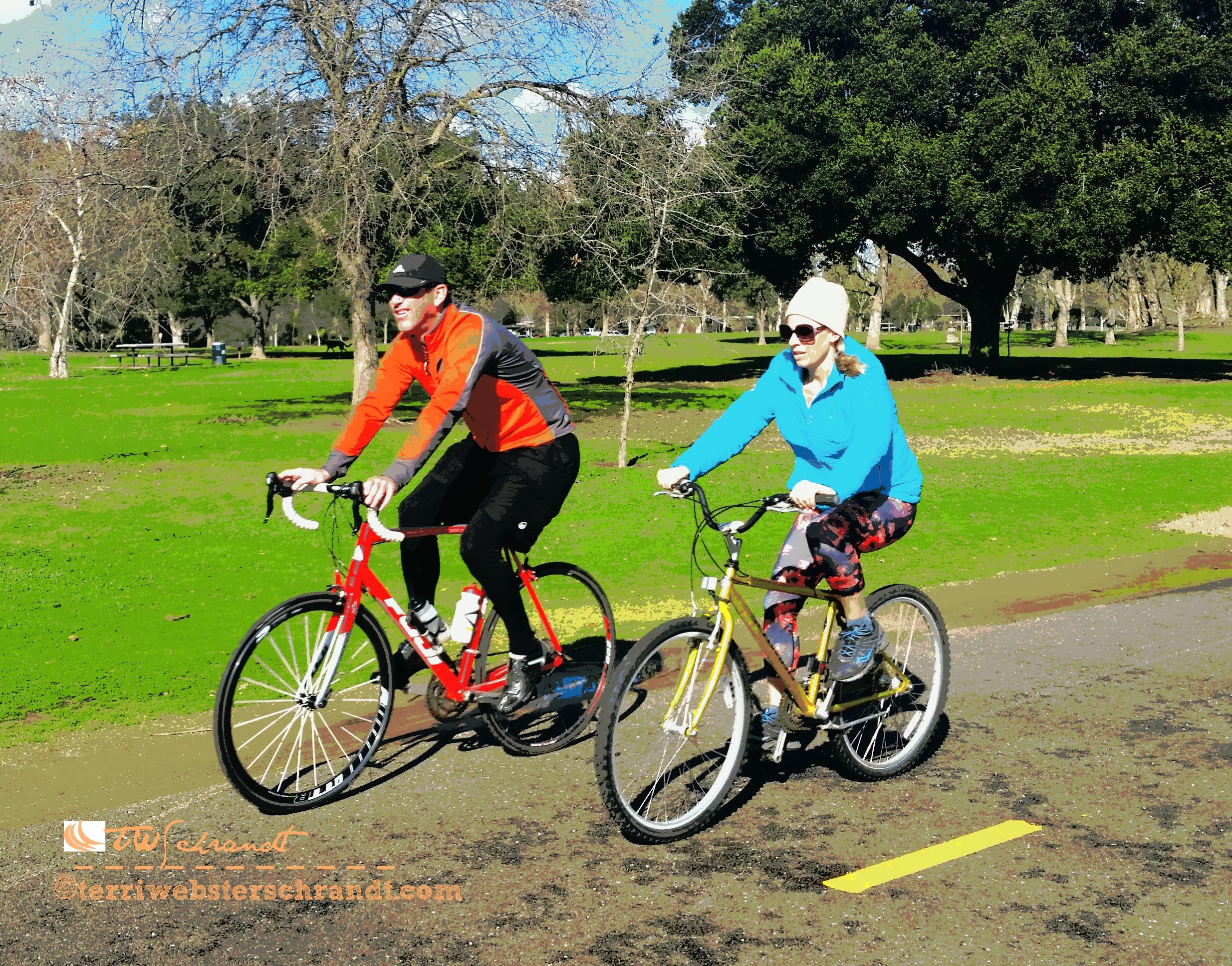 Cycling buddy, cold day bike ride