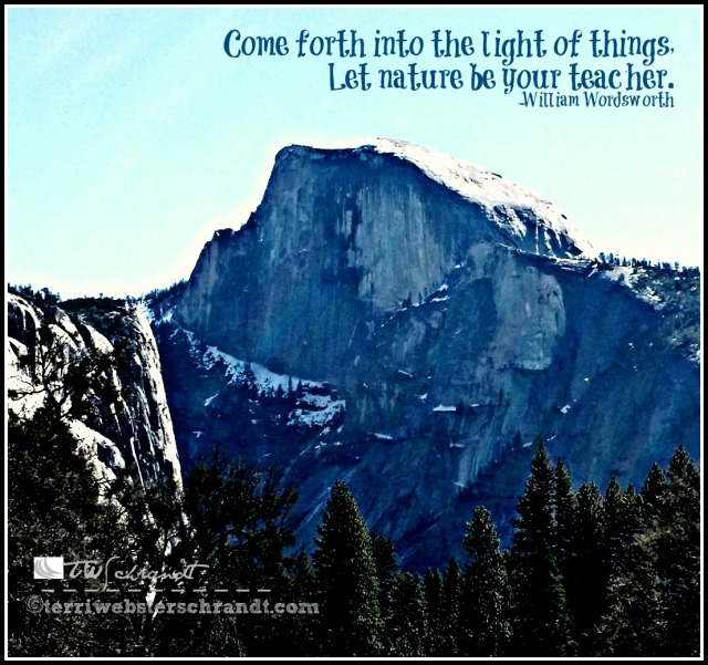 Half-Dome in the Half-Light: Come forth into the light of things...