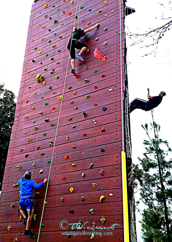 Teamwork allows these climbers to face challenges and fears.