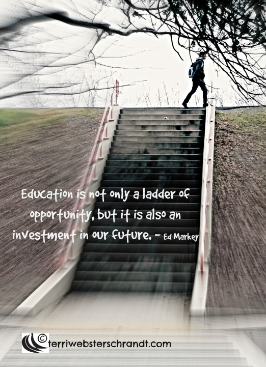 Steps to Education lead to the future.