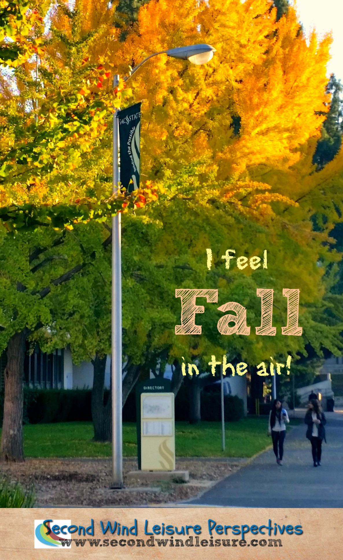 Autumn descends on students