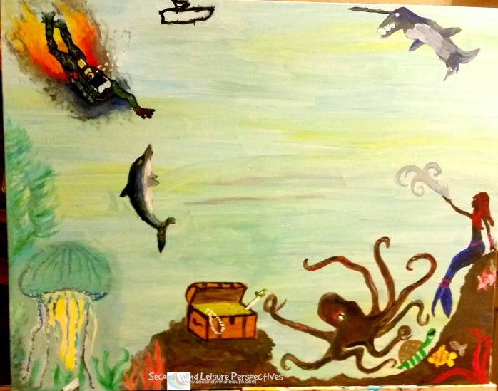 Magic of sealife painted by family members