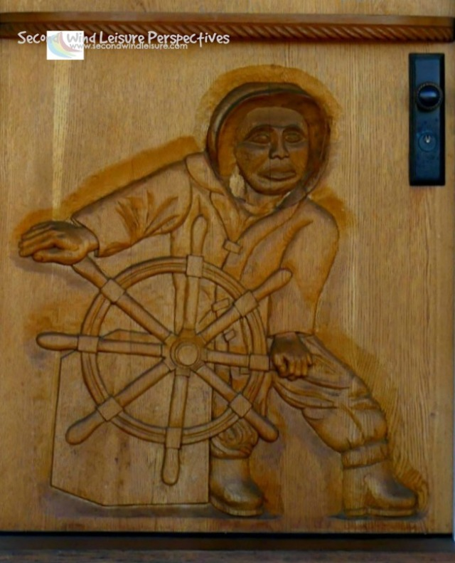Closer up of the Mariner Door
