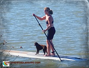 Stand Up Paddling with the pooch