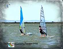 Windsurfing together on our 3rd wedding anniversary!