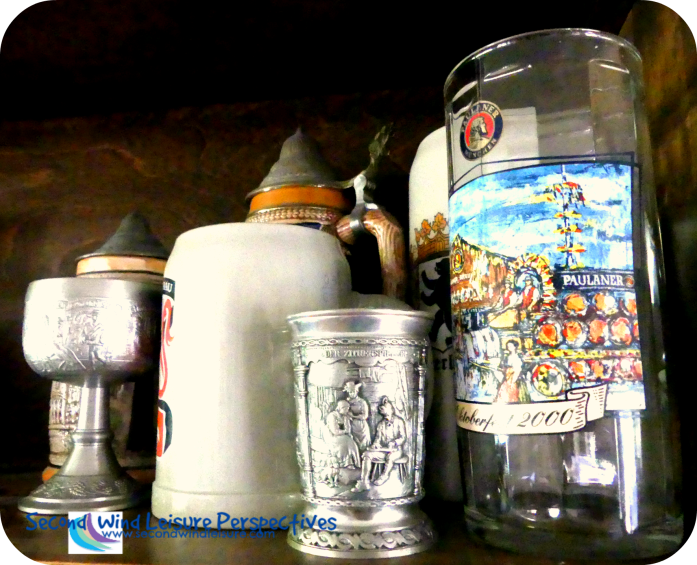 Hubby's Stein Collection, from Germany and Hungary