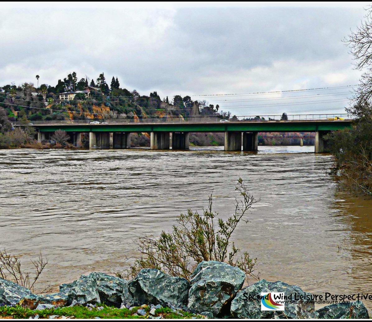 View of Sunrise Bridge on the American River