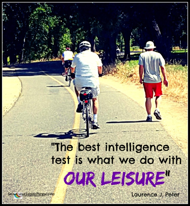 """The best intelligence test is what we do with our leisure"""