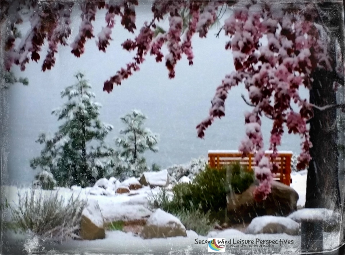 Snow falls for a brief time in Lake Tahoe in May
