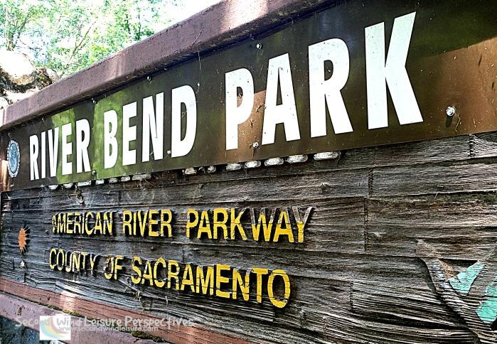 Sign for River Bend Park County of Sacramento