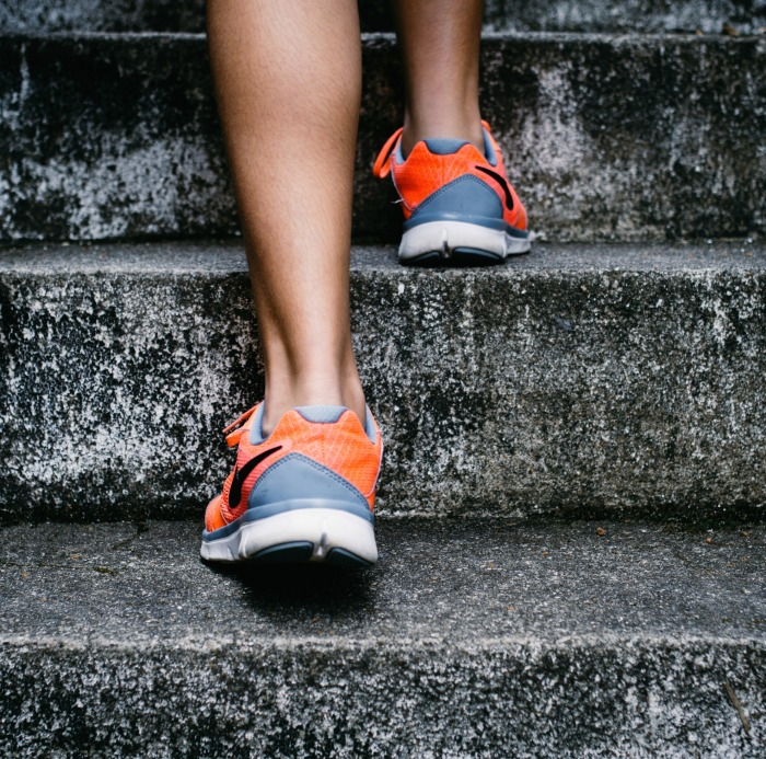 Go get fit by walking up stairs