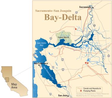 Map Sacramento Delta