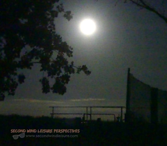 Summer full moon lights the night sky