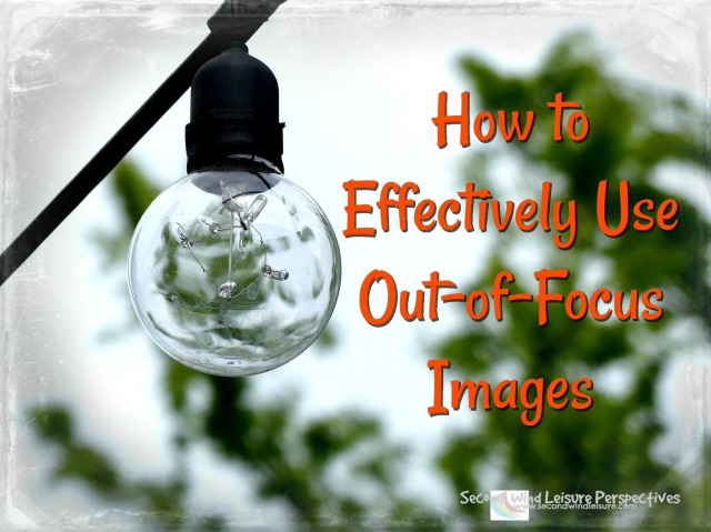 Don't delete! use your out-of-focus images