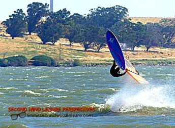 Windsurfer getting some air