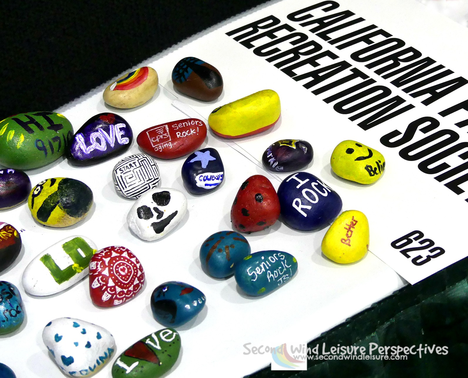 Display of Kindness Rock Project shown at 2017 CPRS Conference