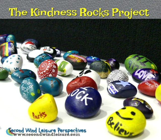 Paint a rock with an uplifting message and leave for someone to find