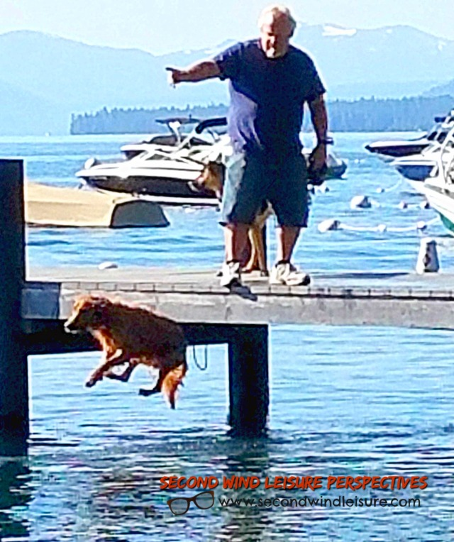 Rio Leaps from Pier!