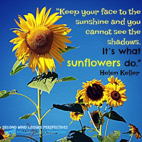 Sunflower quote by Helen Keller
