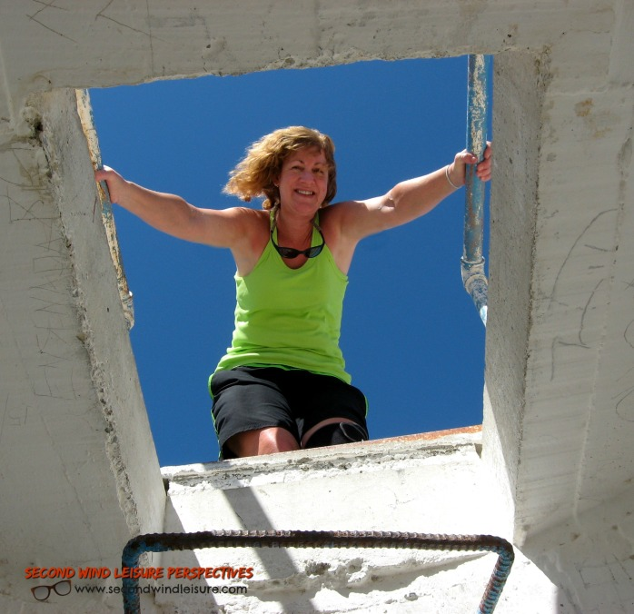 Framed in what's left of the Lighthouse window