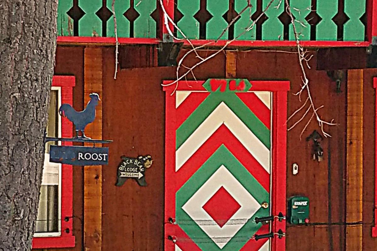 Colorful Cabin Door
