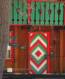 Colorful Cabin Door