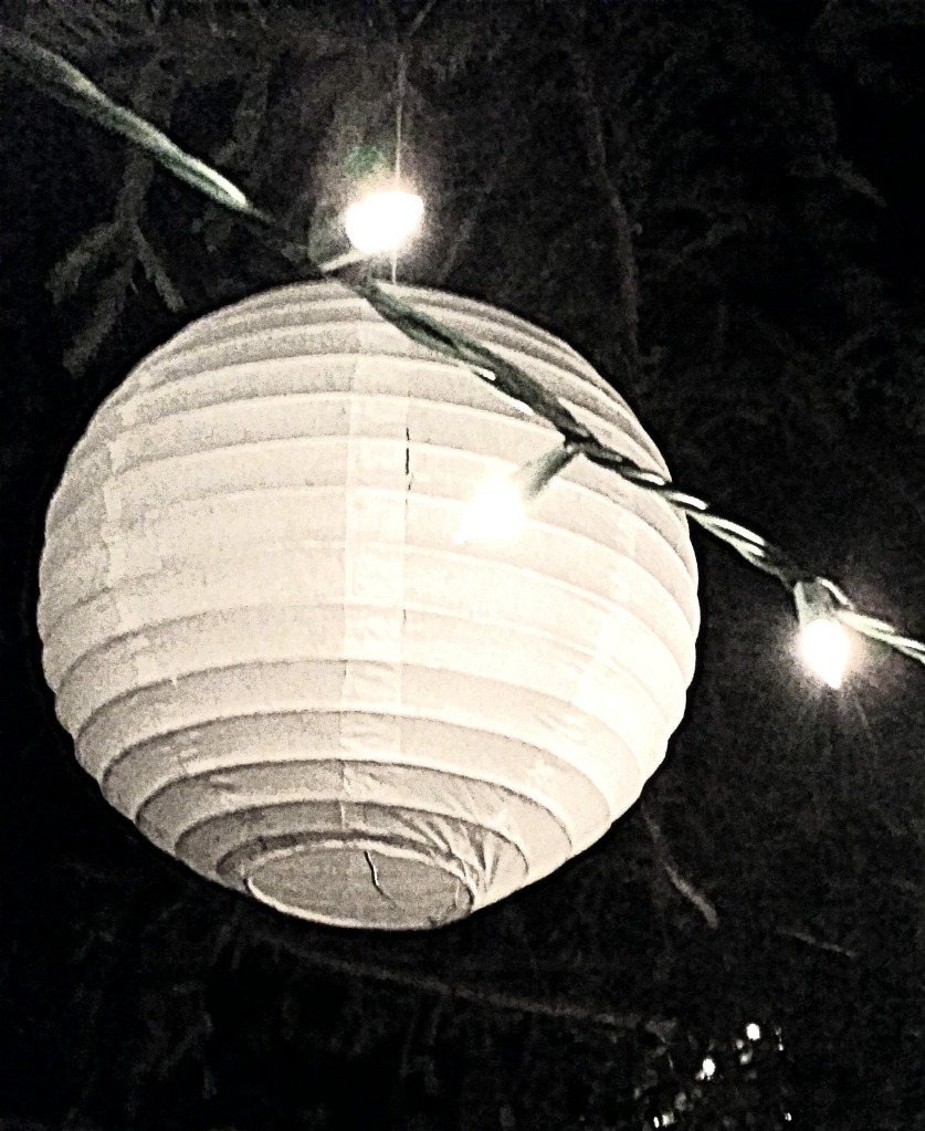 A real lighted orb to light an outdoor Halloween party
