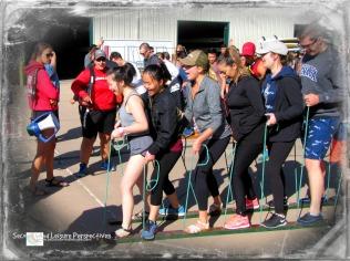 Sacramento State University students enjoy the ski walk challenge!