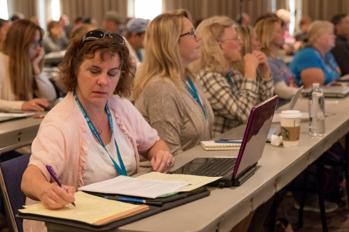 Taking notes at WordCamp Sacramento 2017