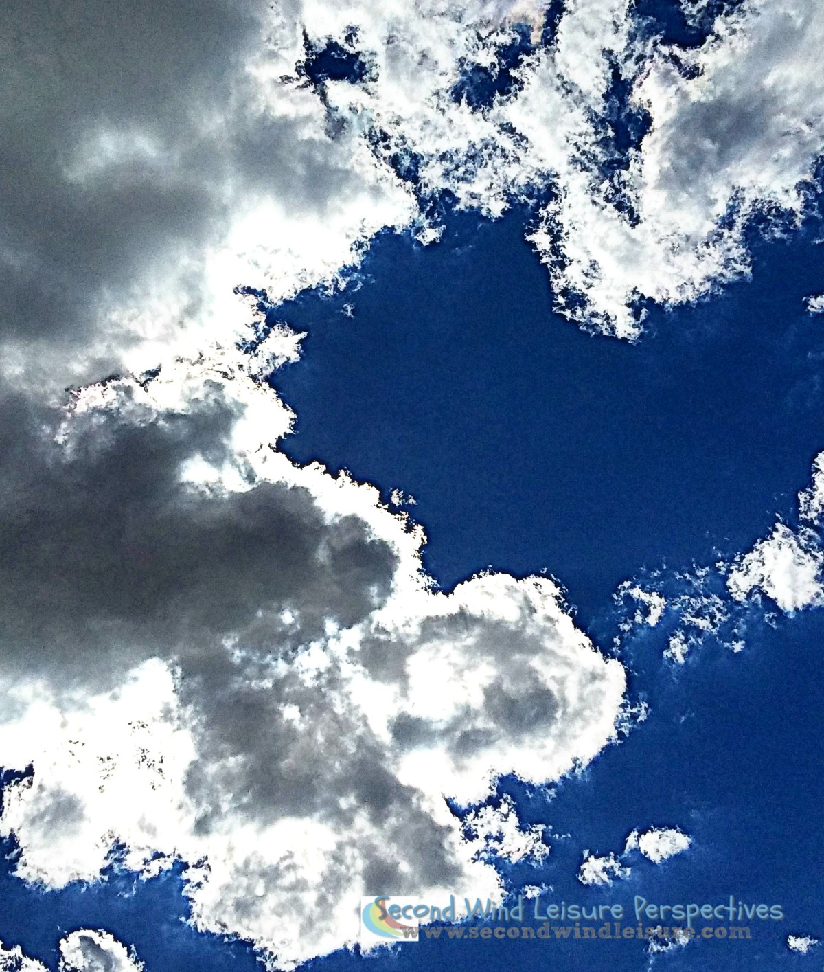 Cloud puff temporarily hides the sun