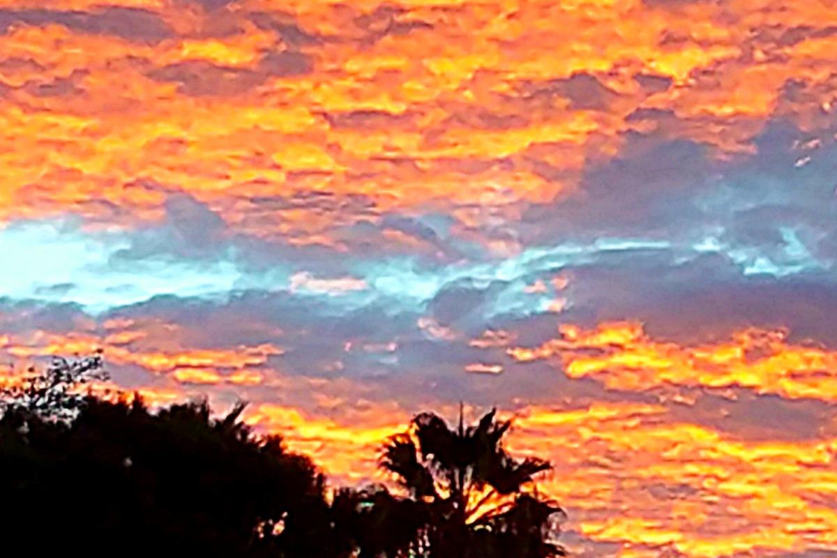 Autumn sunset in San Diego