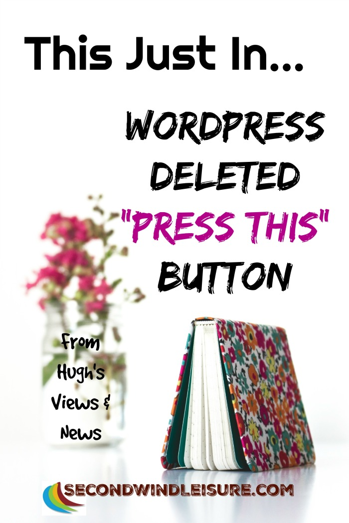 WordPress deleted Press This Button