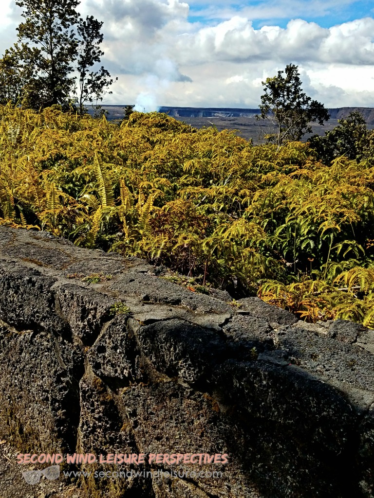 Lava Rock used as Fence