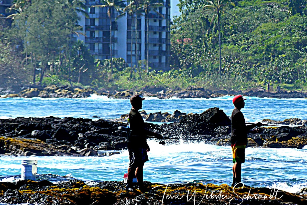 recreational fishing on Hilo Bay