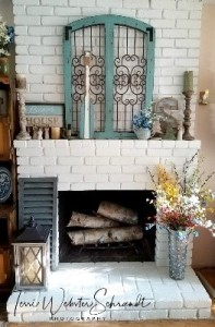 My fabulous re-decorated fireplace ala Joanna Gaines style