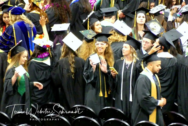 Students graduating from Sacramento State University