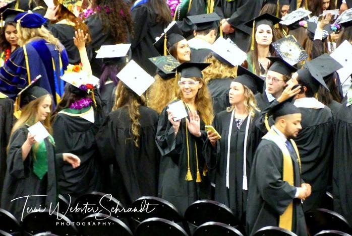 Students graduating from Sacramento State University
