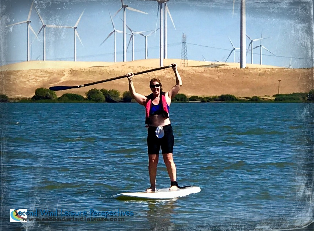 SUP session at the delta