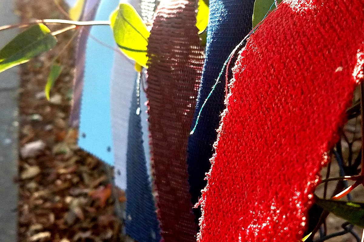 Textures of autumn flags