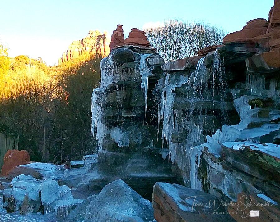 Ice Frozen in Fountain