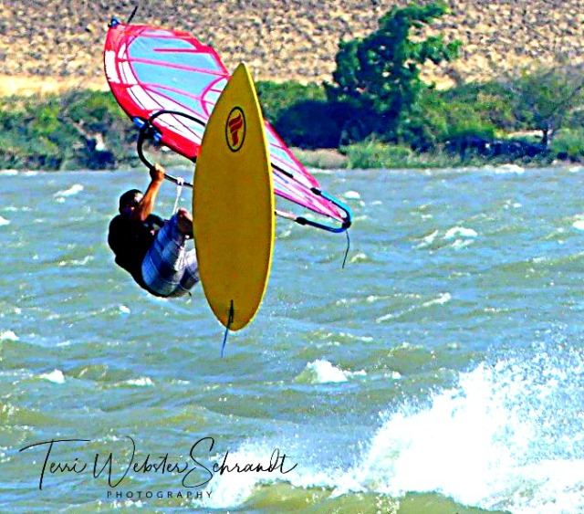 Windsurfer takes flight
