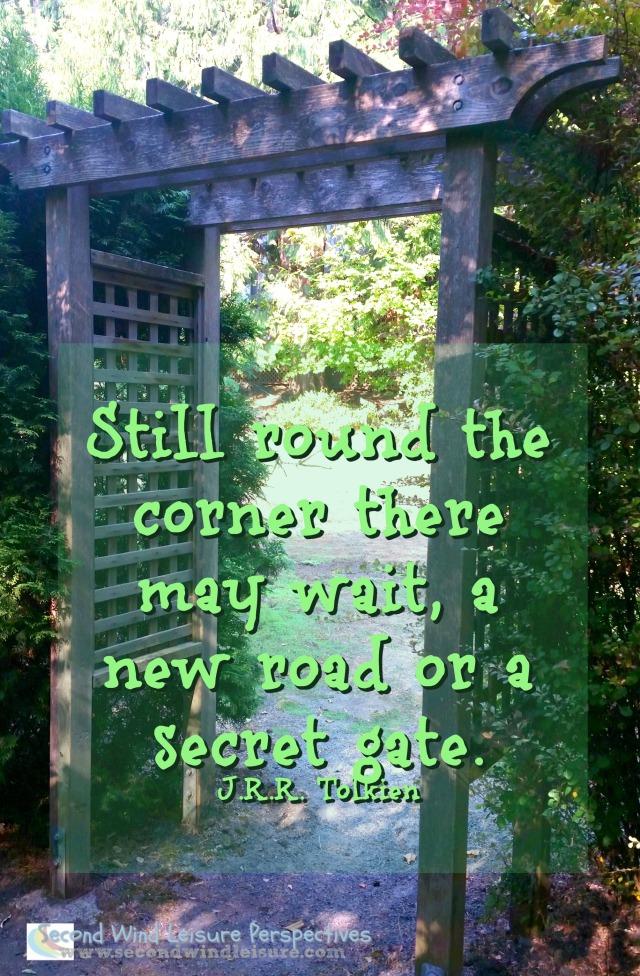 Pergola Gate with Quote