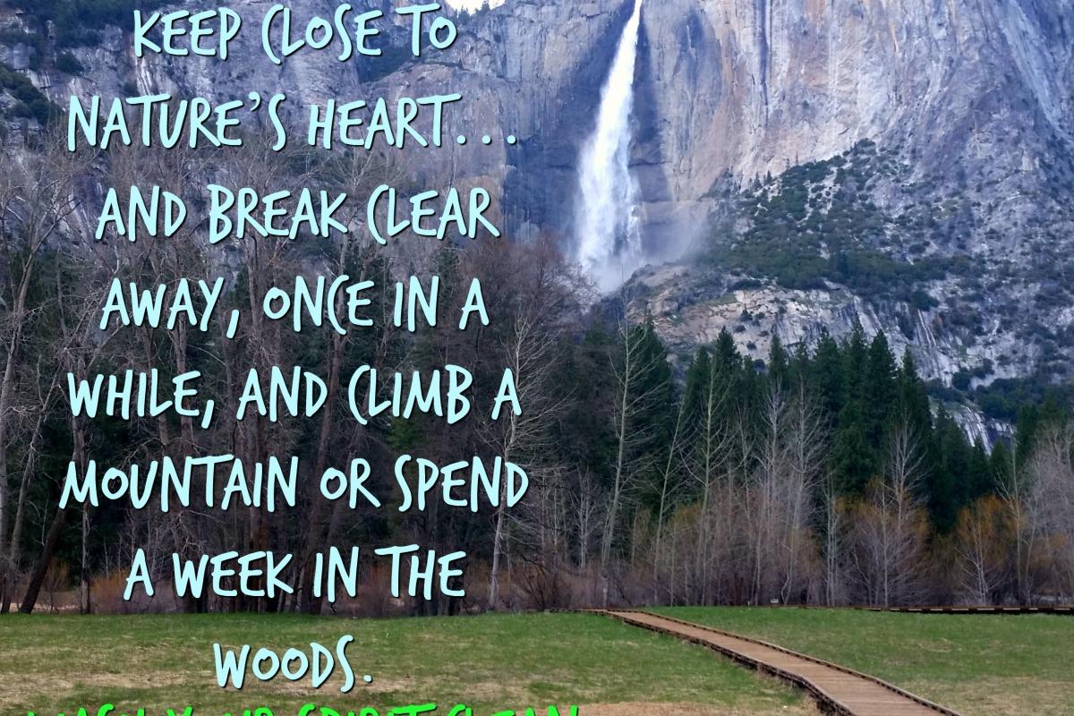 Yosemite Falls John Muir Quote