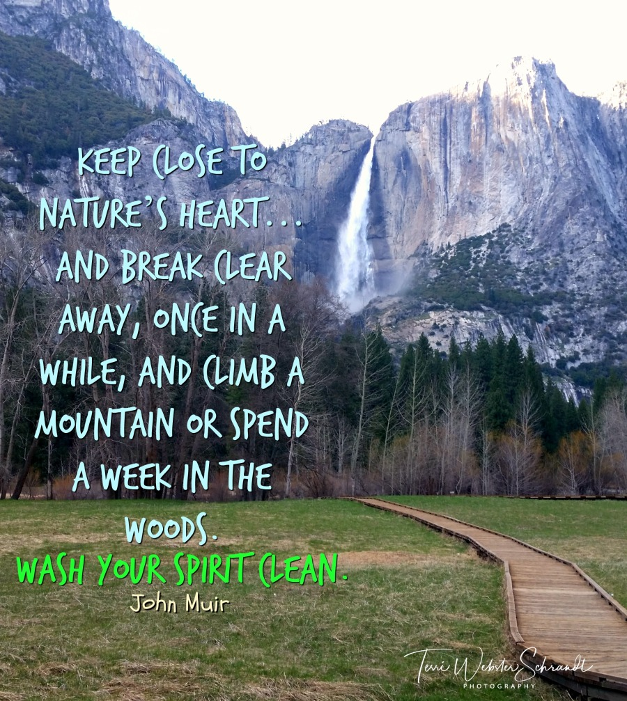 Yosemite Falls John Muir Quote